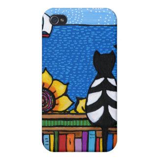 Gato literario iPhone 4/4S carcasas