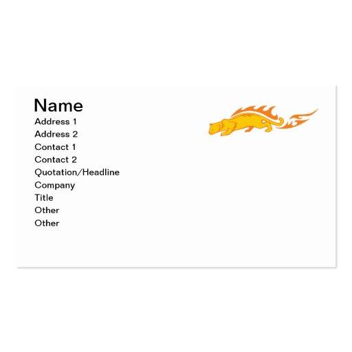 Gato llameante #1 tarjetas de visita