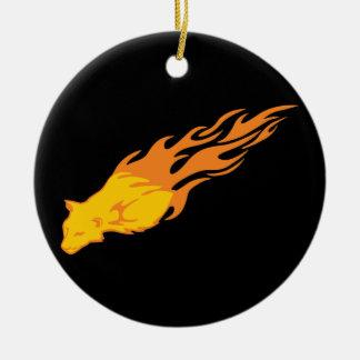 Gato llameante #2 ornamento para reyes magos