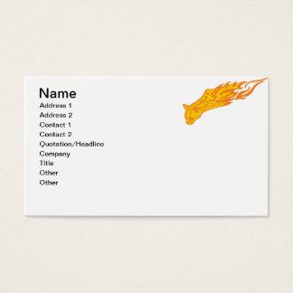 Gato llameante #3 tarjeta de negocios