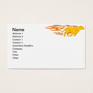 Gato llameante #4 tarjeta de negocios