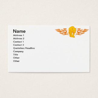 Gato llameante #5 tarjeta de negocios