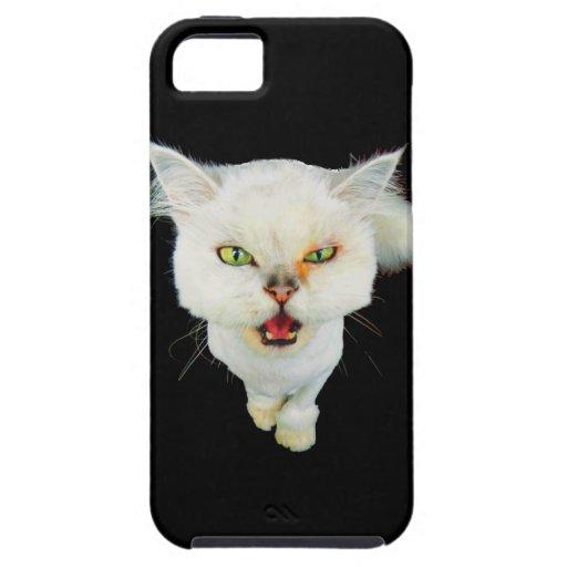 Gato loco avinagrado, lindo iPhone 5 Case-Mate coberturas