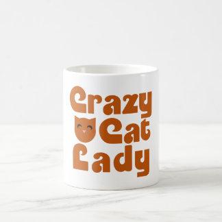 Gato loco de encaje tazas de café
