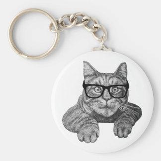 gato loco del friki de la señora del gato llavero