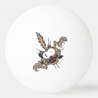 Gato loco divertido pelota de ping pong