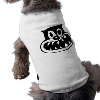 Gato loco playera sin mangas para perro