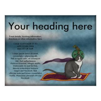 """Gato mágico de la alfombra, aviador folleto 8.5"""" x 11"""""""