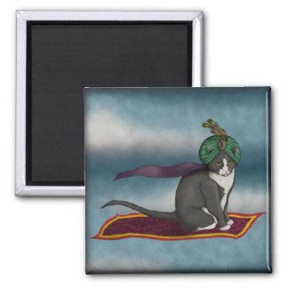 Gato mágico de la alfombra, imán
