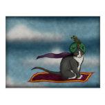 Gato mágico de la alfombra, postal