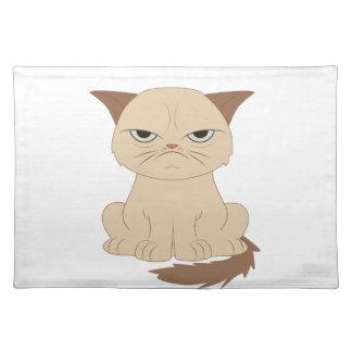 gato Malo-moderado Mantel Individual
