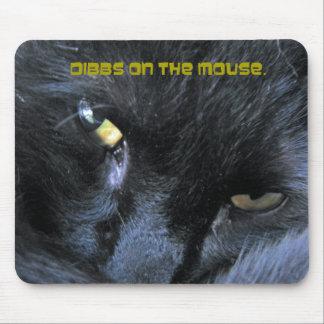 Gato malvado -- Dibbs en el ratón II Mousepad Alfombrilla De Ratón