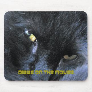 Gato malvado - Dibbs en el ratón - Mousepad Tapete De Ratón