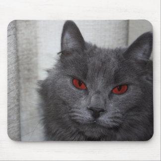 Gato malvado mouse pads