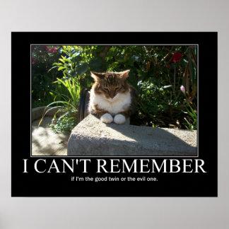 ¿Gato malvado o bueno? Ilustraciones Poster