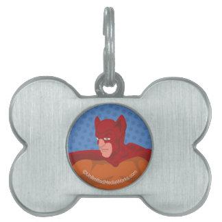 Gato-Man retro Placa Mascota