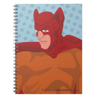 Gato-Man retro Spiral Notebooks