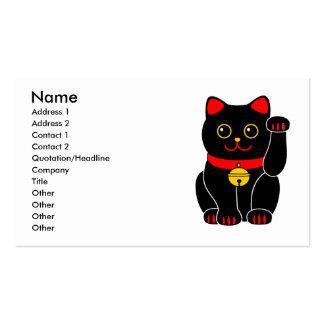 Gato Manekineko-Afortunado (que tienta el gato) Tarjetas De Visita