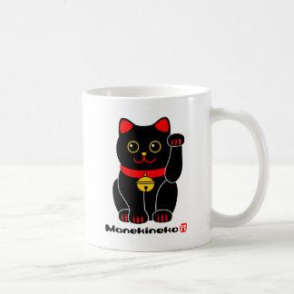 Gato Manekineko-Afortunado Tazas De Café