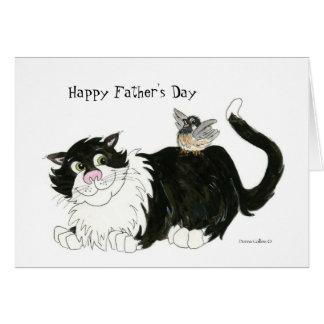 Gato más fresco feliz del día de padre tarjeta de felicitación