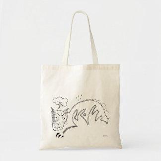 Gato melancólico bolsa tela barata