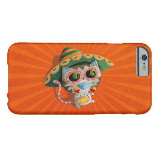 Gato mexicano con el sombrero funda de iPhone 6 barely there