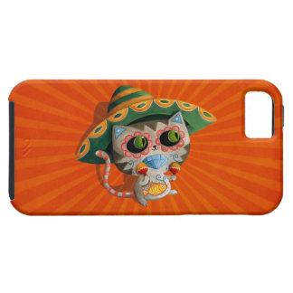 Gato mexicano con el sombrero iPhone 5 carcasa
