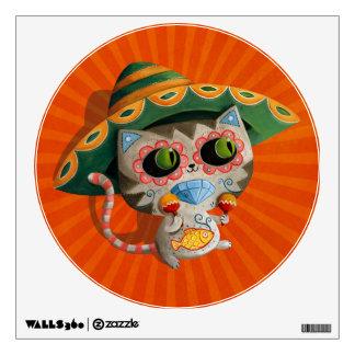 Gato mexicano con el sombrero vinilo