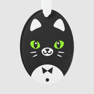 Gato minimalista del smoking del dibujo animado