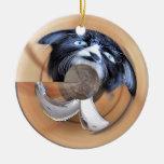 Gato mojado ornamente de reyes