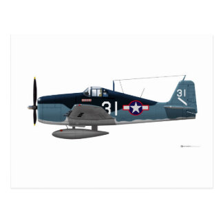 Gato montés de Grumman F-6F Tarjetas Postales