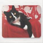 Gato Mousepad de la tarjeta del día de San Valentí Tapete De Raton