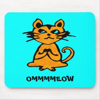 Gato Mousepad - regalos de OM de la yoga Alfombrillas De Raton