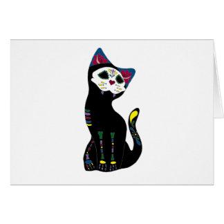 'Gato Muerto' Dia De Los Muertos Cat Greeting Cards