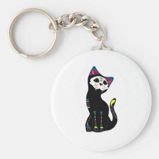 'Gato Muerto' Dia De Los Muertos Cat Keychains