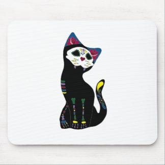 'Gato Muerto' Dia De Los Muertos Cat Mouse Pad