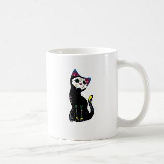 'Gato Muerto' Dia De Los Muertos Cat Basic White Mug