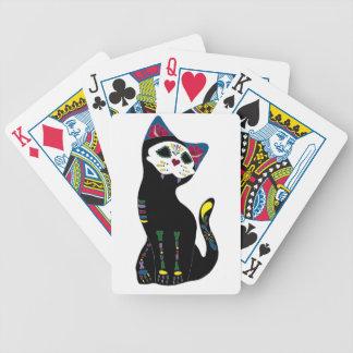 'Gato Muerto' Dia De Los Muertos Cat Playing Cards
