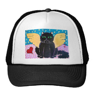 Gato mullido del ángel gorras