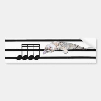Gato musical de Bengala Etiqueta De Parachoque