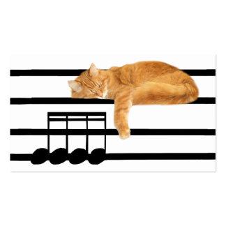Gato musical del gatito del tabby tarjetas de visita