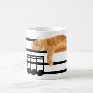 Gato musical del gatito del tabby taza