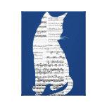 Gato musical impresión en lona estirada