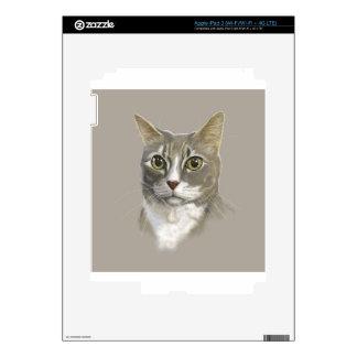 Gato nacional del pelo corto del capitán iPad 3 pegatinas skins