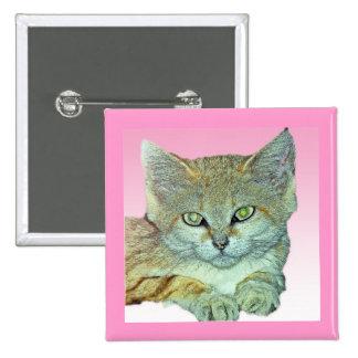 Gato nacional fondo rosado pins