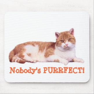 Gato nadie Purrfect Mousepad Alfombrillas De Ratones