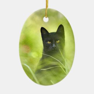 Gato negro adornos de navidad