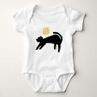 Gato negro afortunado camisas