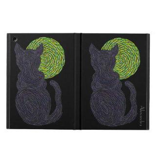Gato negro afortunado personalizado y el aire del