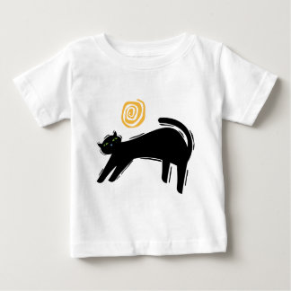 Gato negro afortunado playeras
